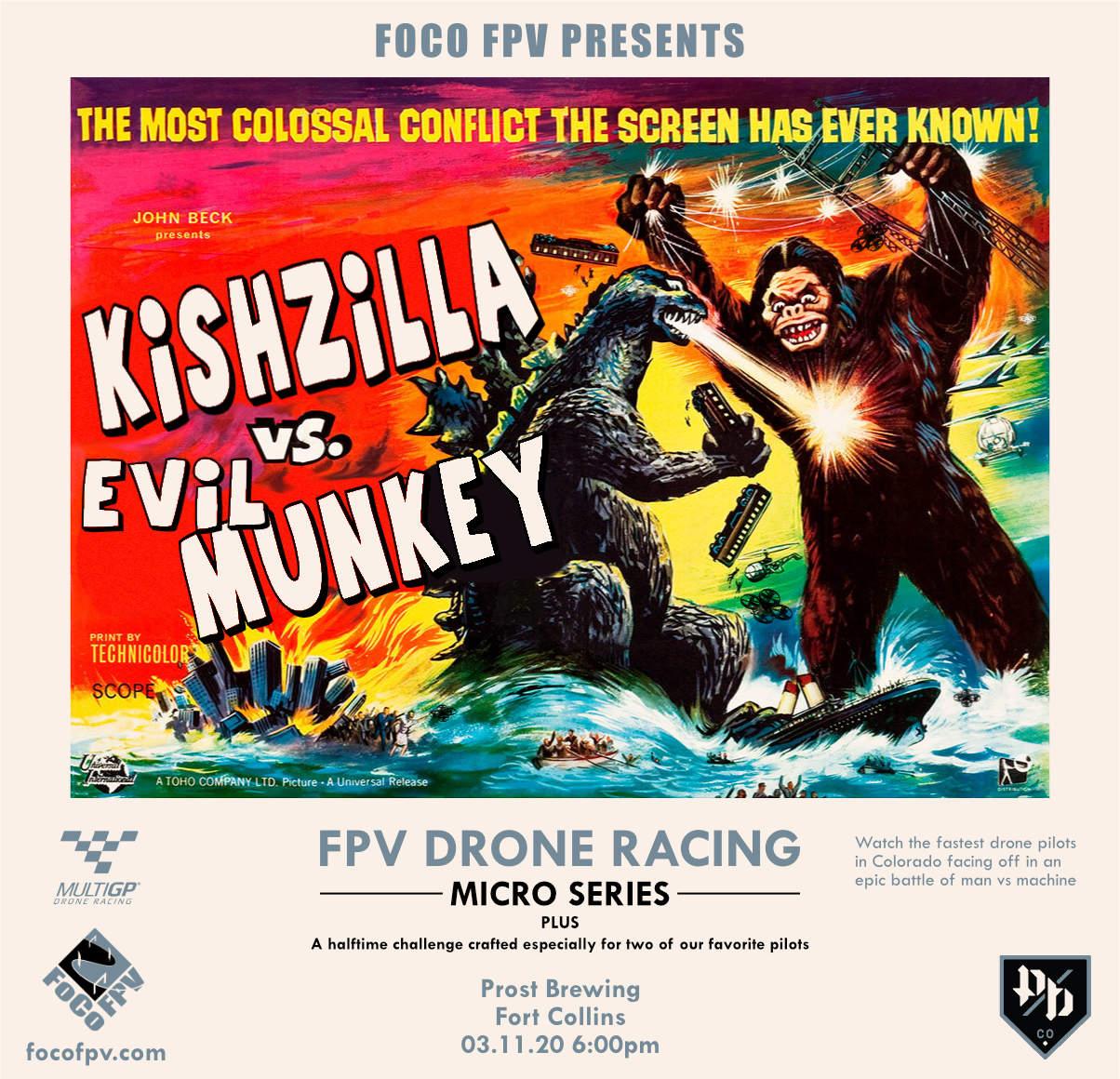 KishZilla VS Evil Munkey