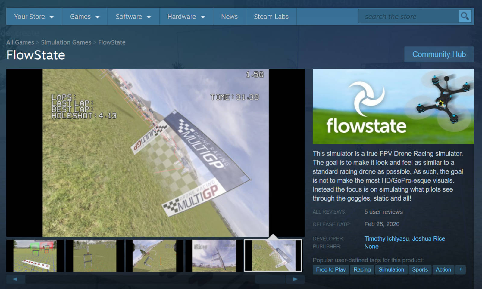 FlowState Official Sim of FoCo FPV